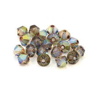 BICONE SWAROVSKI (5328) 3MM CRYSTAL IRIDESCENT GREEN